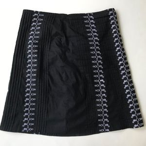 Anthropologie Skirts - Anthropologie Lucy & Laurel Black Skirt Embroider